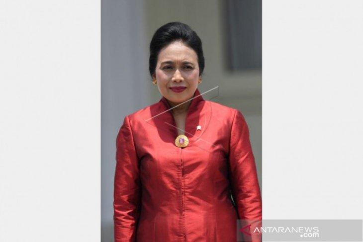 Menteri PPA Bintang Puspayoga,  menghadap paling akhir