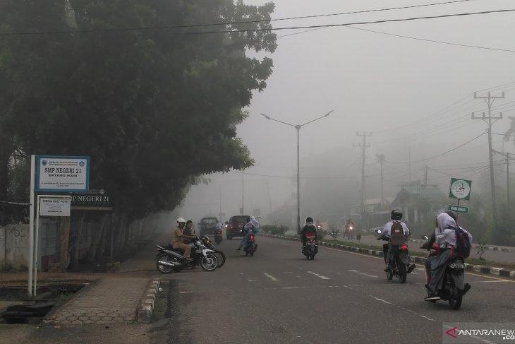 Kategori kualitas udara Kota Jambi sedang meski asap pekat lagi