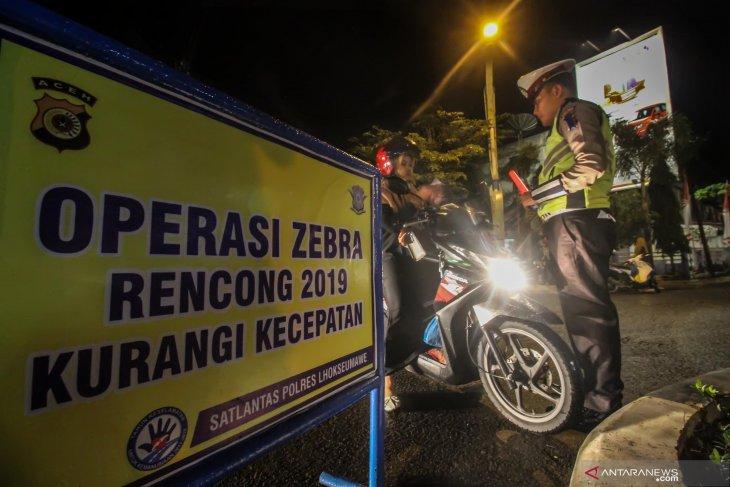 Operasi Zebra Rencong malam hari