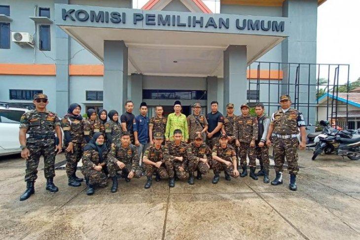 Banser Batanghari isi kegiatan Hari Sumpah Pemuda dengan kunjungi Rumah Pintar Pemilu