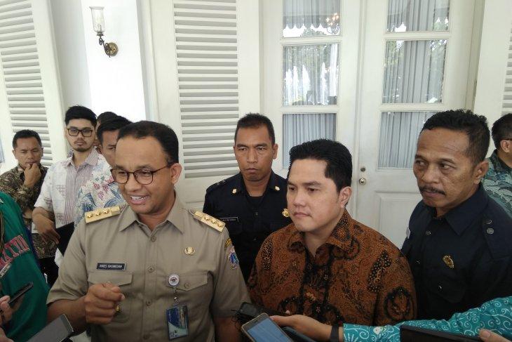 Menteri BUMN sambangi Balai Kota Jakarta membahas integrasi transportasi