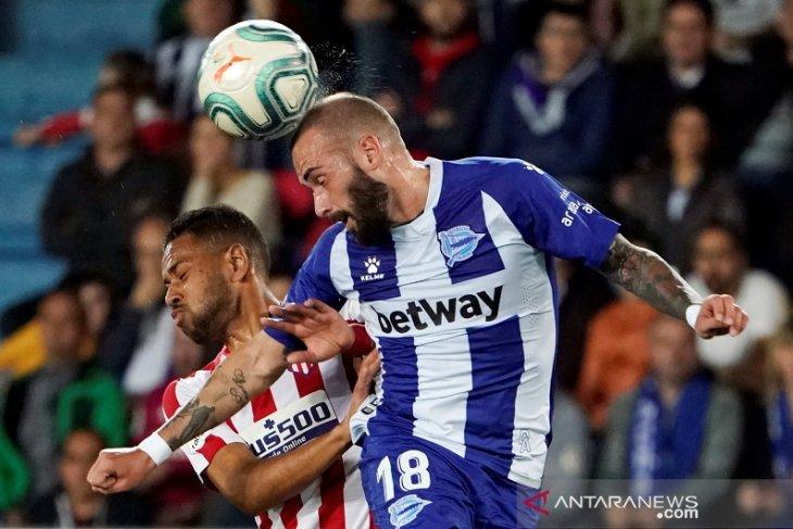 Atletico gagal lanjutkan tren  positif, ditahan imbang Alaves 1-1