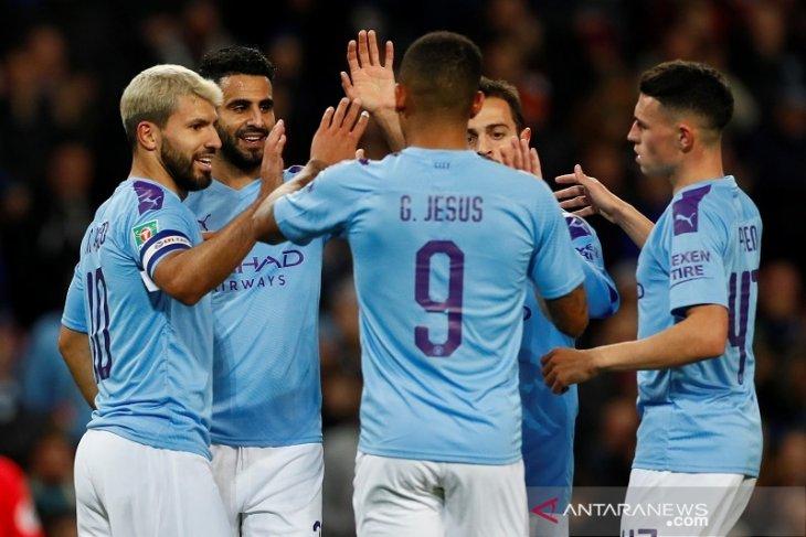 Piala Liga Inggris, Man City melenggang ke perempat final, disusul Everton dan Leicester