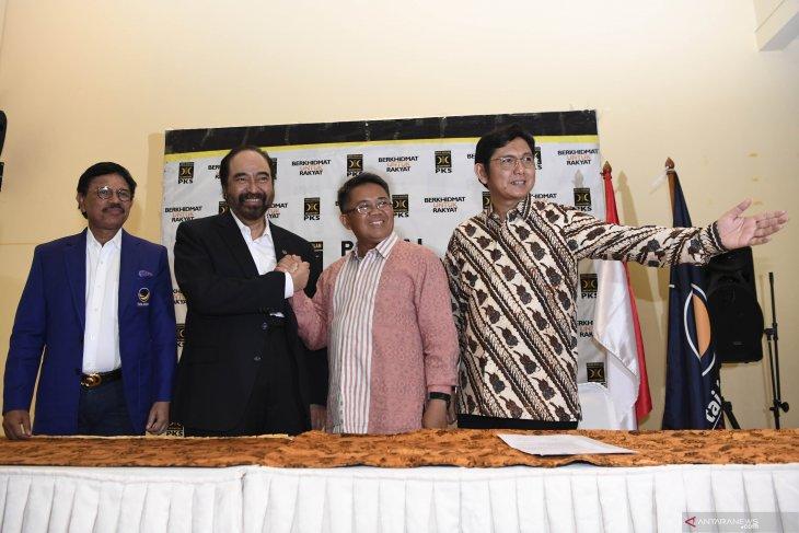 Ketum Nasdem Surya Paloh bertemu dengan Presiden PKS