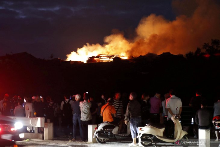 Kebakaran Kastil Shuri Jepang, api melahap situs warisan dunia di Okinawa