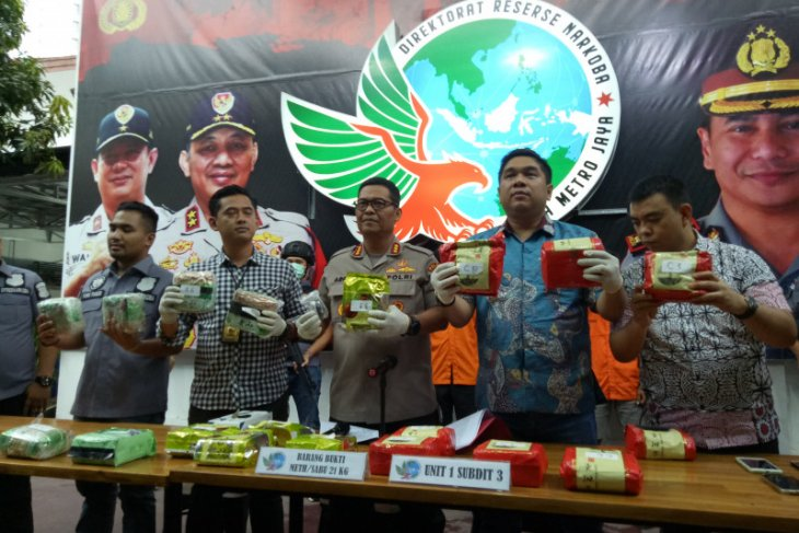 Jakarta police apprehend drug courier concealing crystal meth in anus