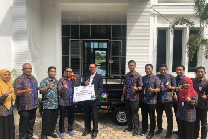 PLN UP3 Aceh serahkan becak sampah