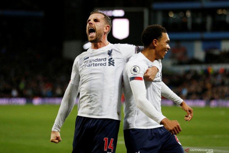 Liga Inggris, Gol dramatis Mane bantu Liverpool tundukkan Aston Villa 2-1