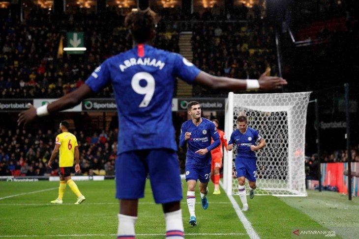 Gol Abraham dan Pulisic antar Chelsea naik ke posisi tiga