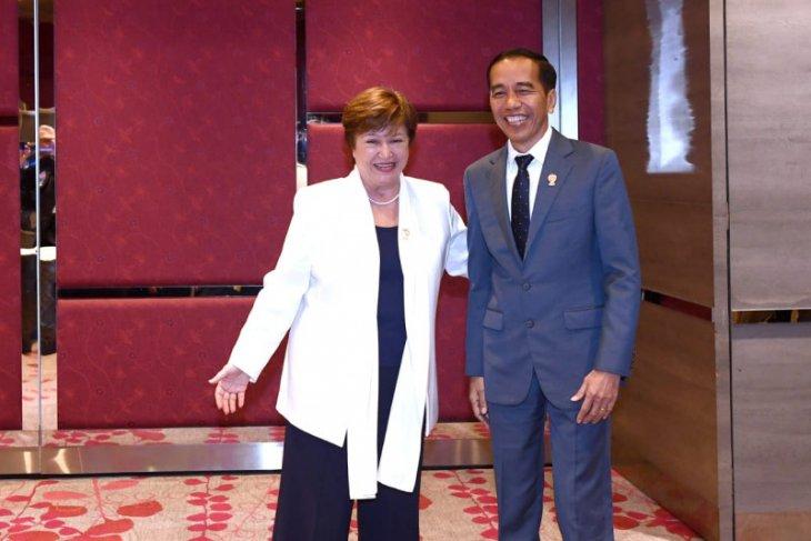 President Jokowi, IMF Managing Director discuss global economy