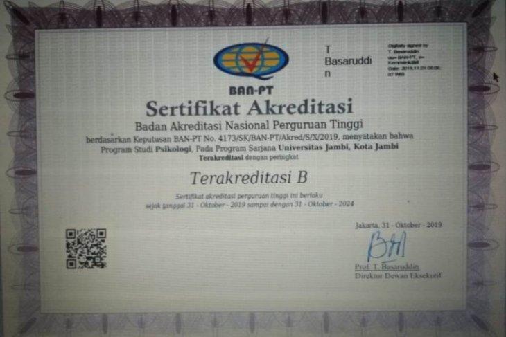 Semua prodi Fakultas kedokteran Unja telah terakreditasi B