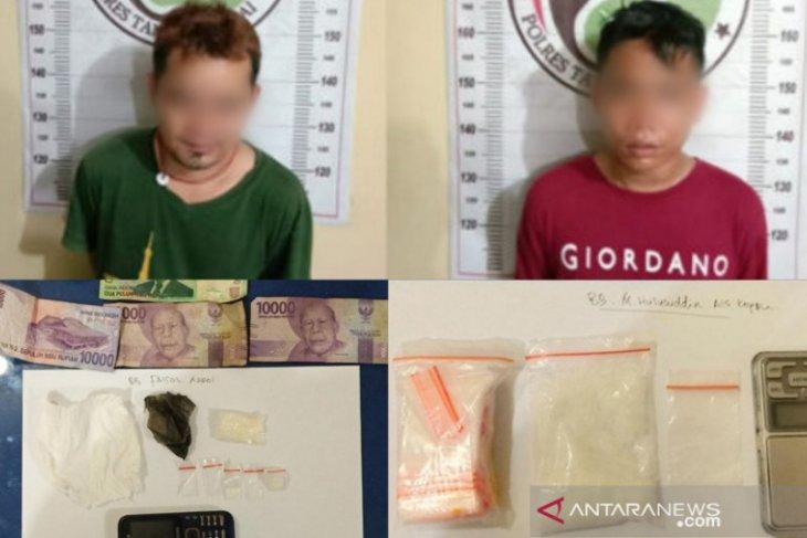 Dua pengedar narkotika diringkus dari lokasi berbeda di Tanjungbalai