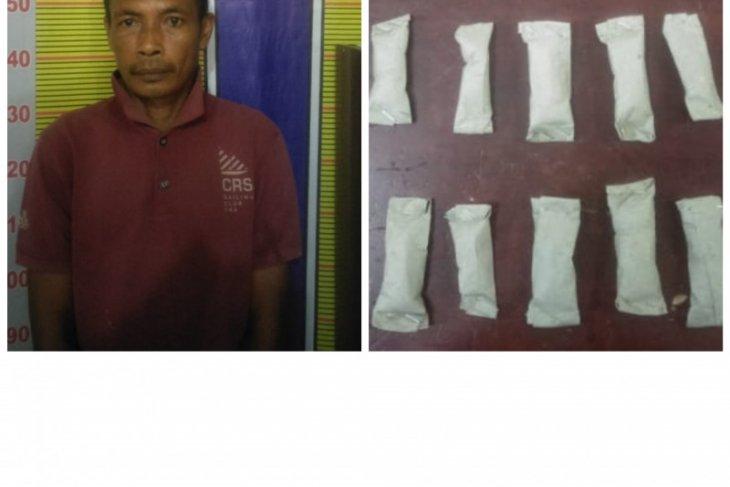 Karyawan PTPN 2 Sawit Seberang miliki puluhan paket ganja ditangkap polisi
