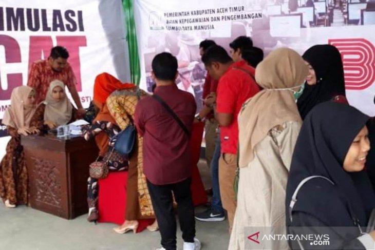 Simulasi CAT membludak di Aceh Timur