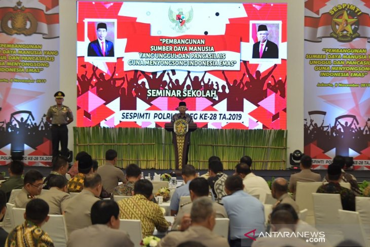 Wapres Ma'ruf: Isu khilafah tantangan bangsa Indonesia