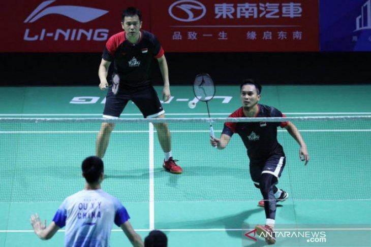 Ahsan/Hendra dihentikan Aaron/Soh di perempat final Fuzhou China Open