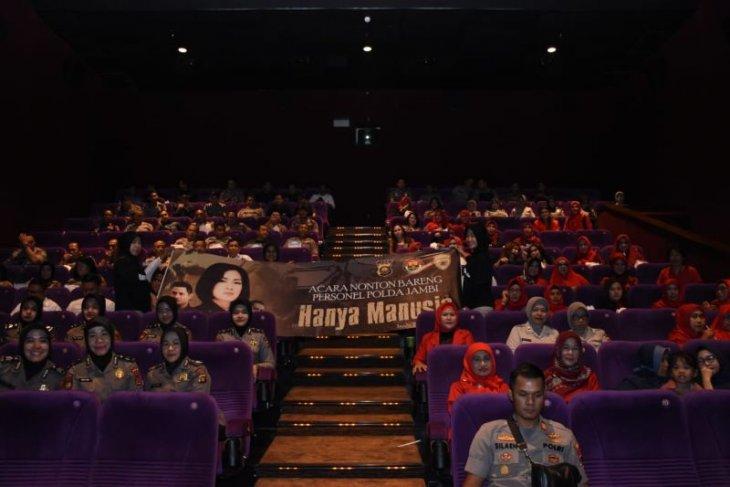 Wakapolda dan JPU Polda Jambi nonton bareng film 'Hanya Manusia'