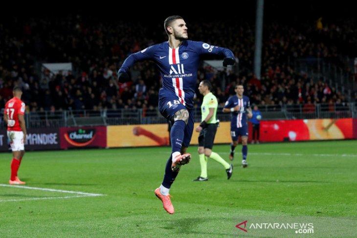 Liga Prancis, Icardi kunci tiga poin PSG dari Brest