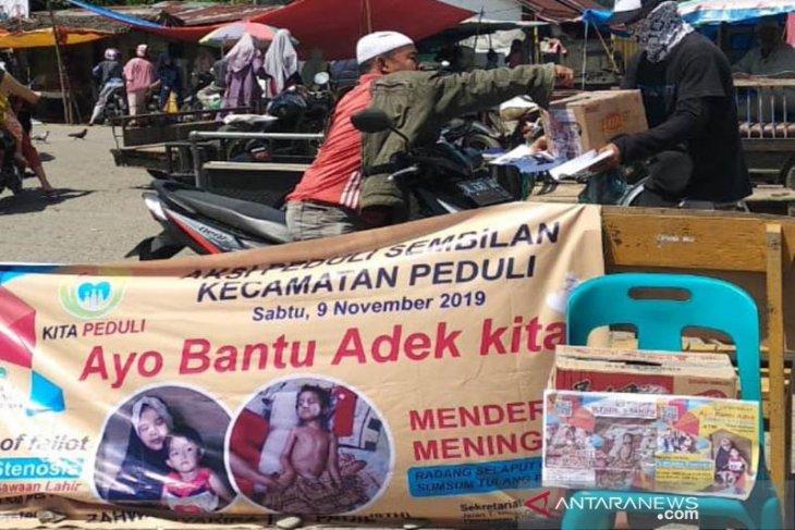 Pemuda Aceh Jaya galang dana untuk bocah bocor jantung dan radang selaput otak