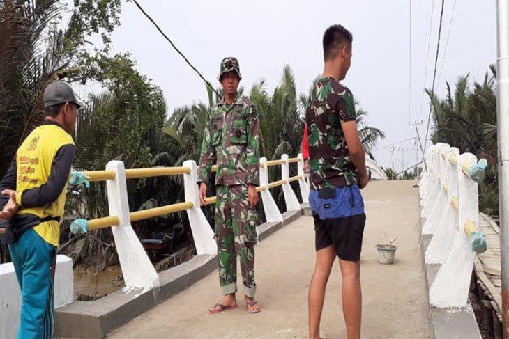 Jembatan Beton TMMD Kodim Inhil Sudah Hampir Rampung