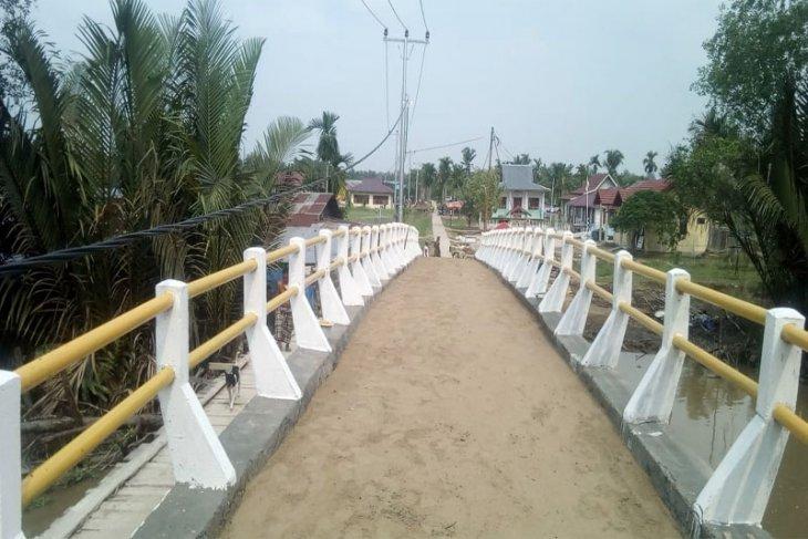 Jembatan Program TMMD Kodim 0314/Inhil Sudah Berdiri Kokoh