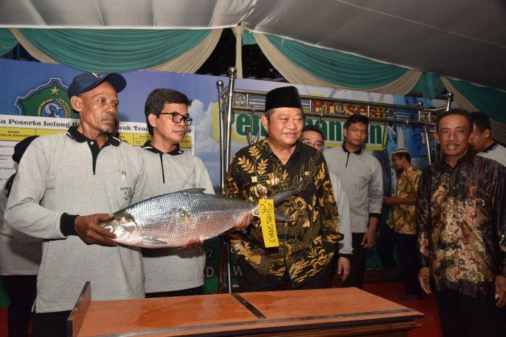 Seekor bandeng seberat 7,66 kilogram juara lelang di Sidoarjo