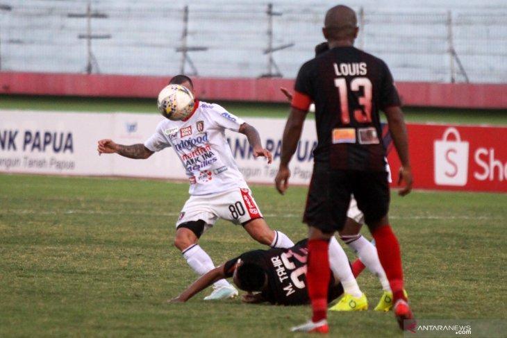 Persipura imbang lawan Bali United