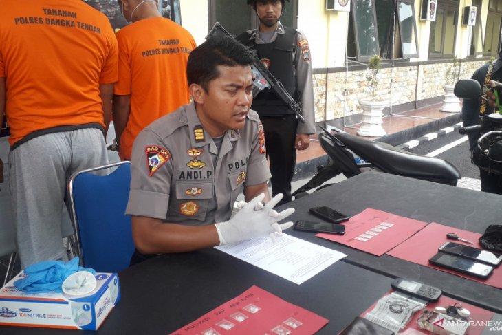 Polres Bangka Tengah tangkap tiga pengedar narkoba jenis sabu