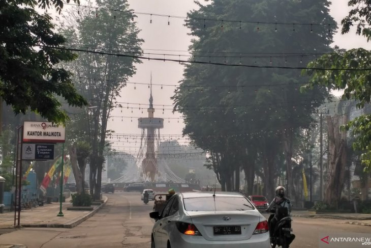 Kabut asap kembali  tutupi Kota Jambi