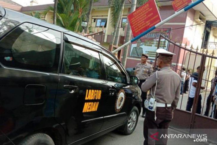 Pasca ledakan bom, Brimob jaga ketat Polrestabes Medan