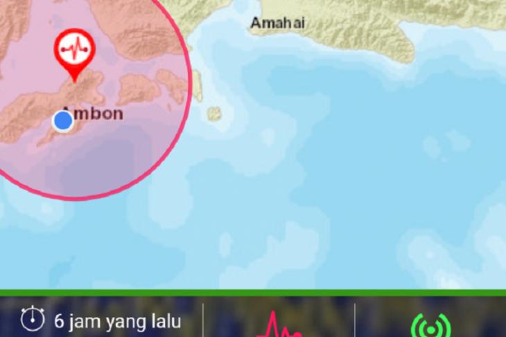 Pulau Ambon diguncang enam gempa susulan