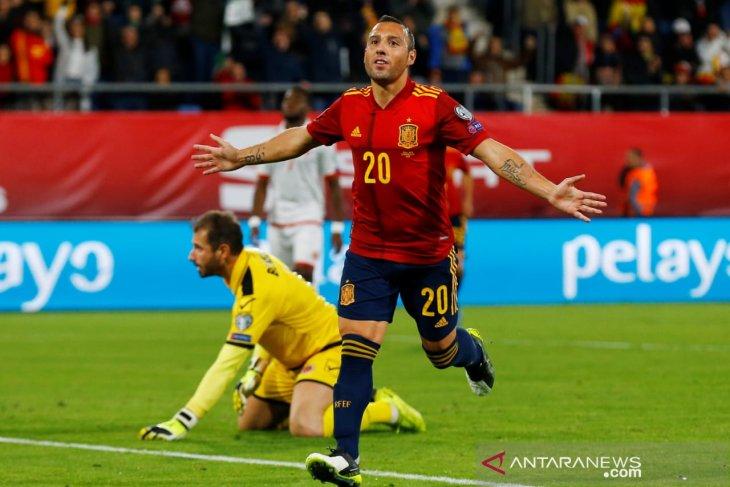 Kualifikasi Piala Eropa, Spanyol kokoh di puncak usai cukur Malta 7-0