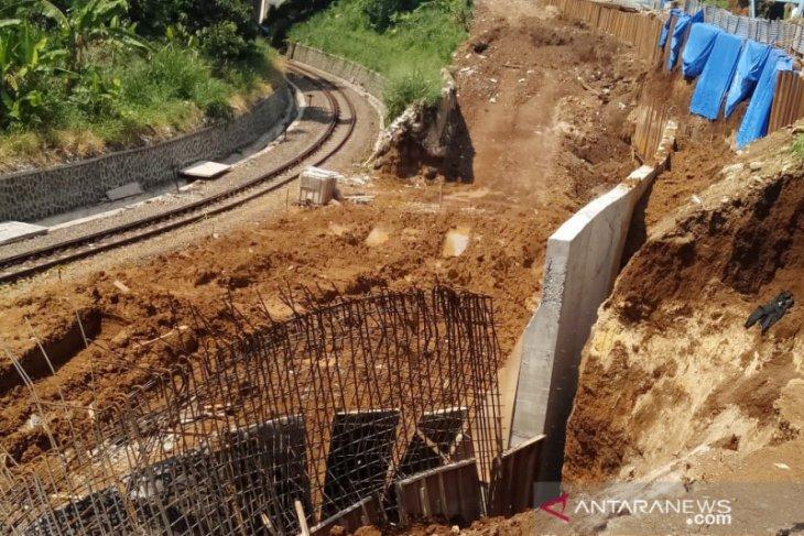Kemenhub hentikan sementara proyek jalur ganda KA pascainsiden longsor di Bogor