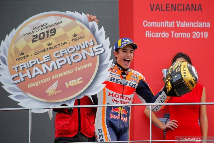 GP Valencia, Marquez tutup musim 2019 dengan sempurna