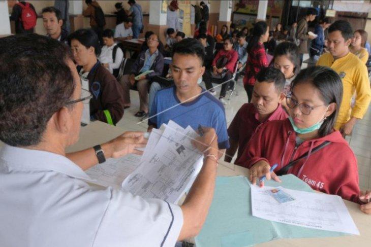 Antrean permohonan SKCK di Denpasar