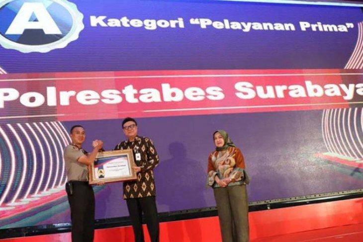 Polrestabes Surabaya terima penghargaan  Pelayanan Prima dari Kementerian  PAN-RB