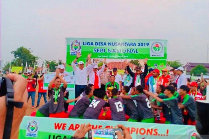 Sumsel tampil menjuara Liga Desa Nusantara di Bekasi