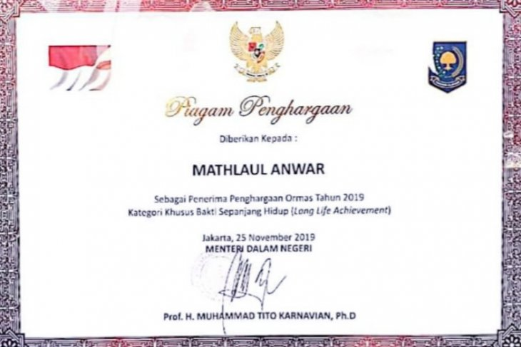 Mathla'ul Anwar dapatkan penghargaan dari Kemendagri