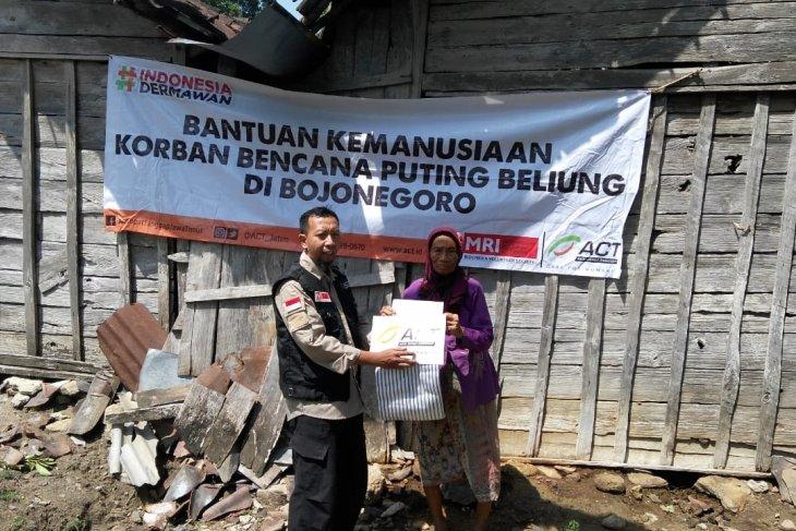 ACT-MRI salurkan bantuan bagi korban angin kencang Bojonegoro