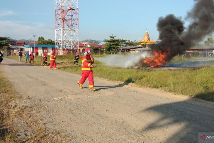 Bandara DEO Kota Sorong uji kemampuan tim Penanggulangan Keadaan Darurat