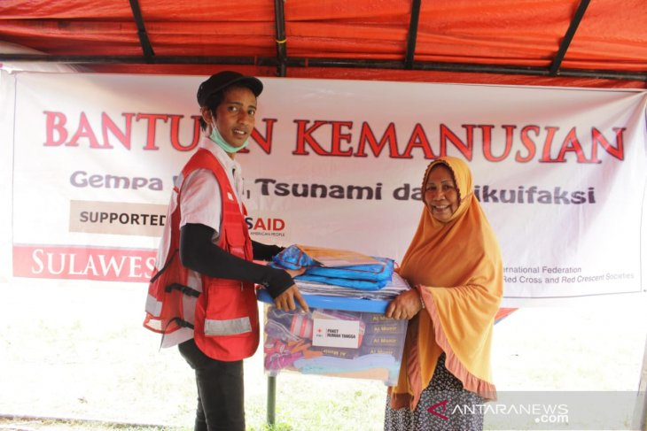 PMI salurkan paket bantuan untuk ratusan korban bencana di Sigi