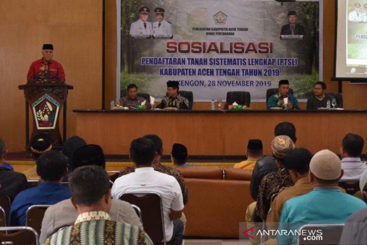 Biaya pendaftaran tanah Rp250 ribu sesuai Perbup Aceh Tengah