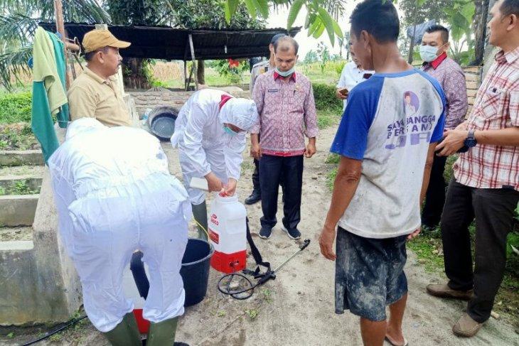 Balai Viteriner Medan ambil sampel babi mati di Simalungun