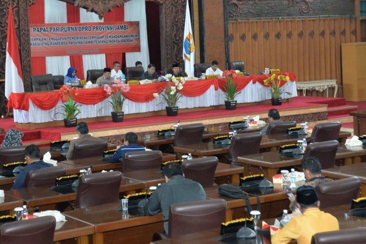 DPRD gelar paripurna tanggapan pemerintah terkait Ranperda Inovasi Daerah