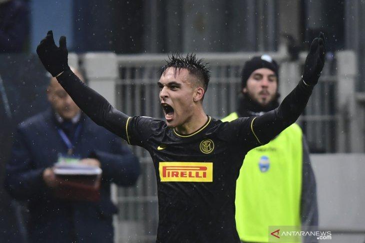 Liga Italia, dwigol Martinez antar Inter ke puncak klasemen