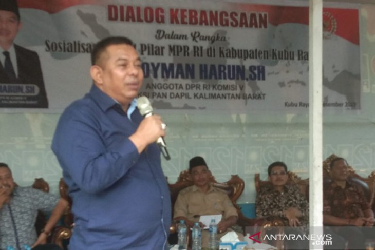 Boyman dorong perubahan status jalan di Kubu Raya