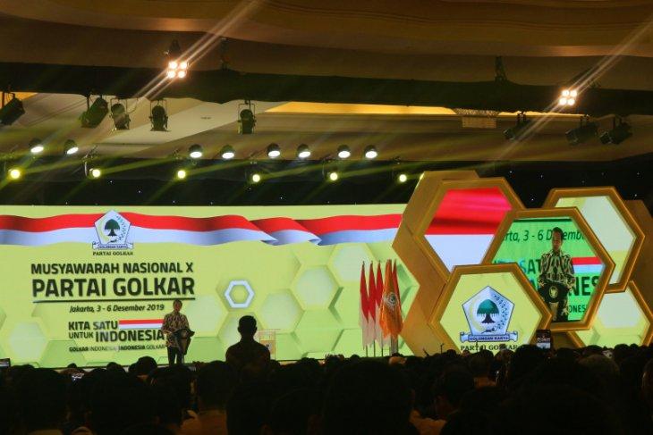 Jokowi apresiasi kesejukan dalam Munas Golkar