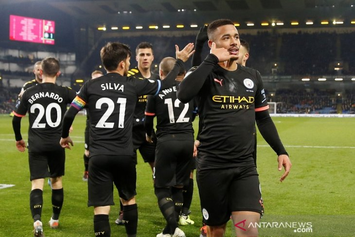 Man City hajar Burnley demi duduki posisi kedua Liga Inggris