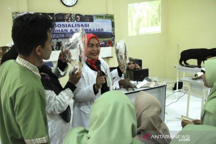 BKSDA Aceh kenalkan pelajar satwa dan tumbuhan dilindungi