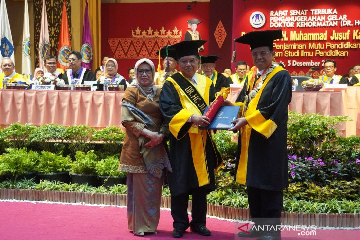 UNP awards honorary doctoral degree in education to Jusuf Kalla